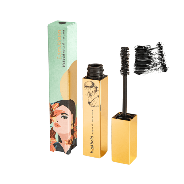 mascara big&bold open met swoosh en verpakking Golden Hour (websize transparante achtergrond)