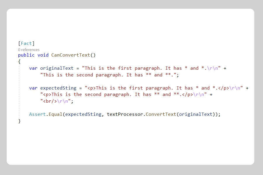 How to unit test your C# code properly