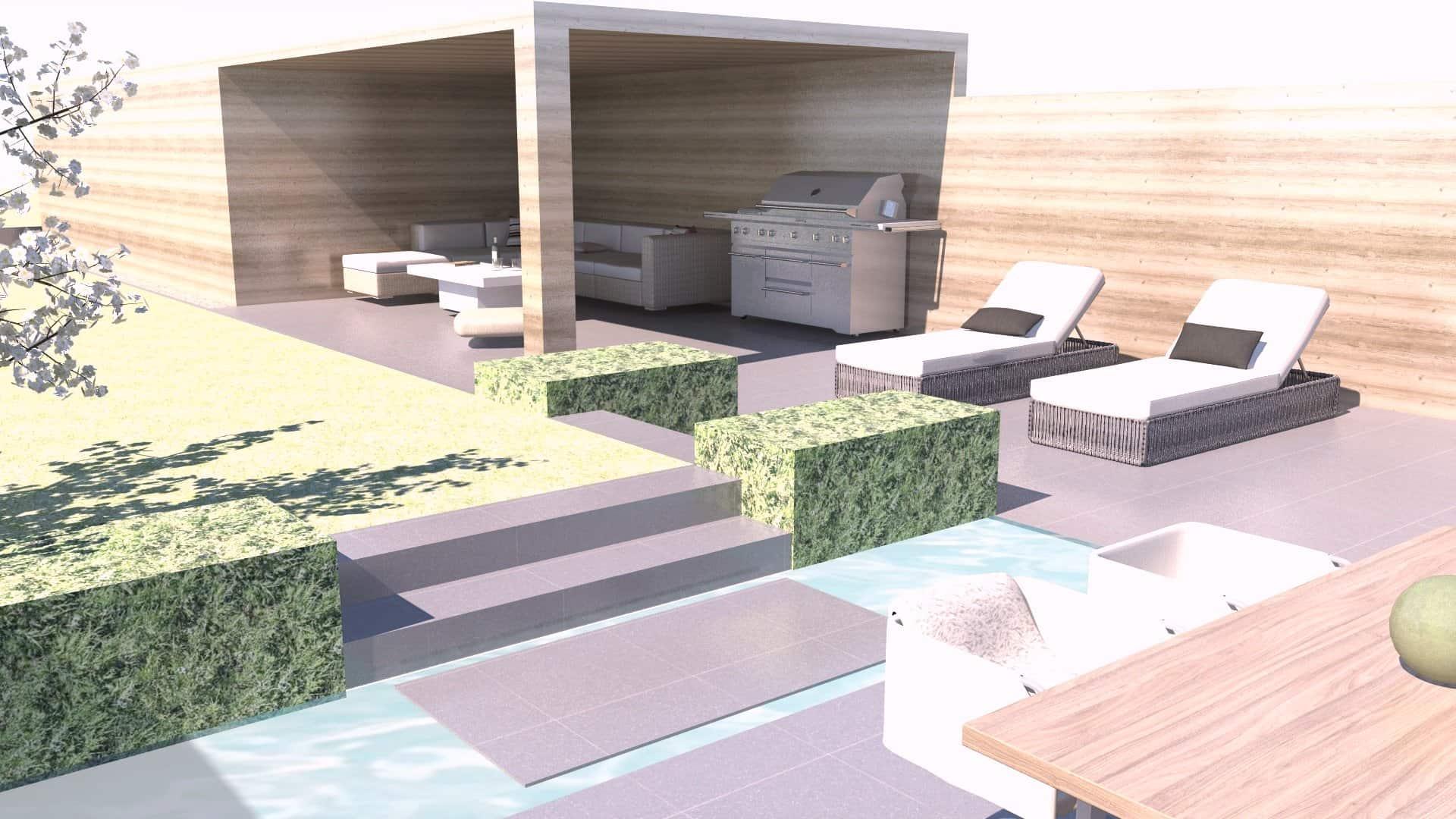 Tuinrenovatie bestaand terras en carport GY - Lede