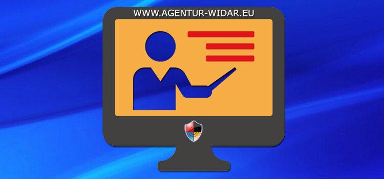 Onlineunterricht der Sicherheitsagentur WIDAR