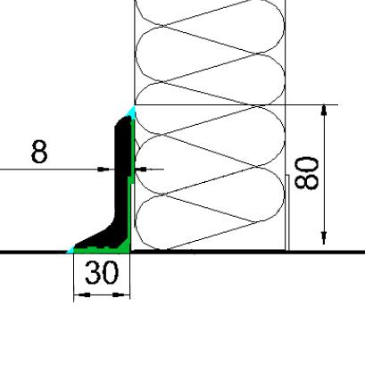 Fodpanel PV8F