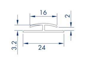 Samle-profil for glasfiber plader