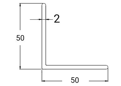 Ydre Hjørneprofil 50x50