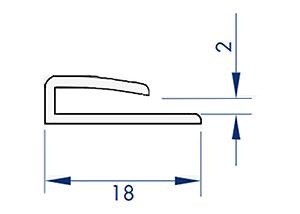 U-profil-for 2,3 plader