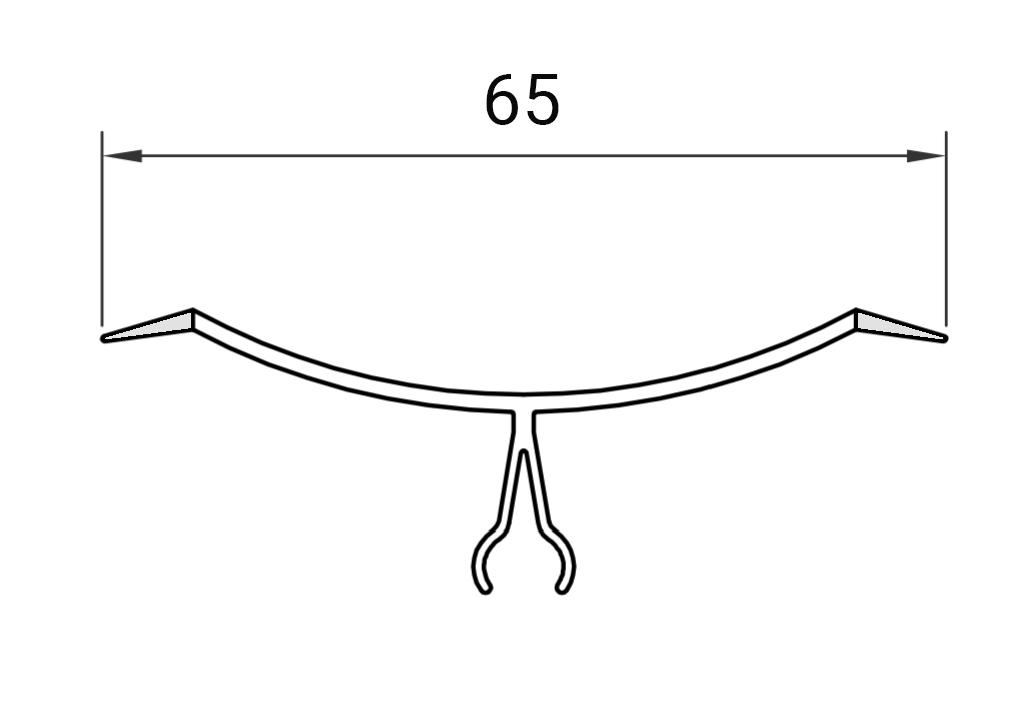 Profil 4915 for glasfibersystemet GLASBORD®