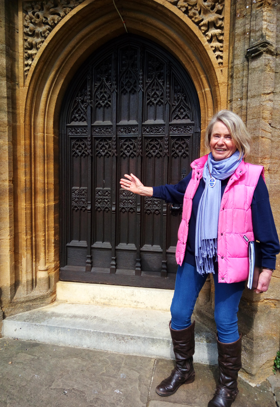 Cindy at Sherborne Abbey