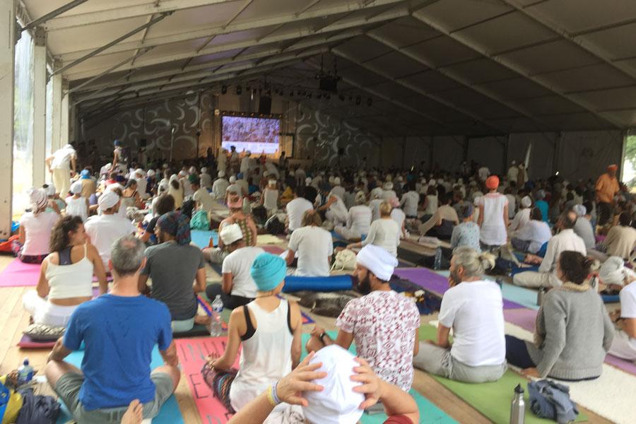 Kundalini Yoga Festival teltet