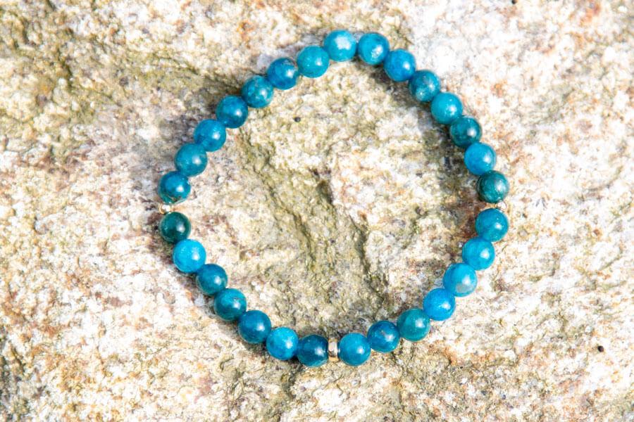 Apatit armbånd - hals chakra