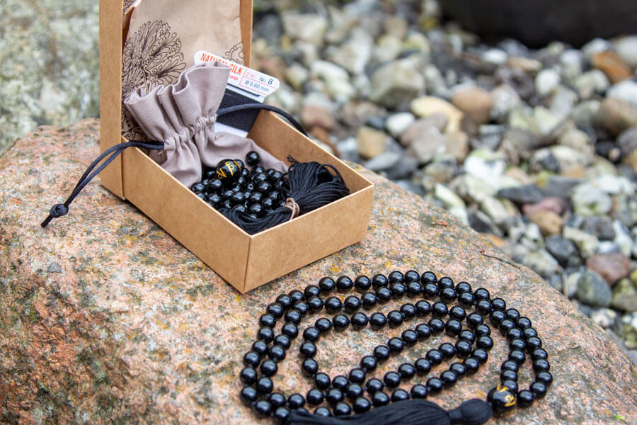 Mala kit med sort obsidian