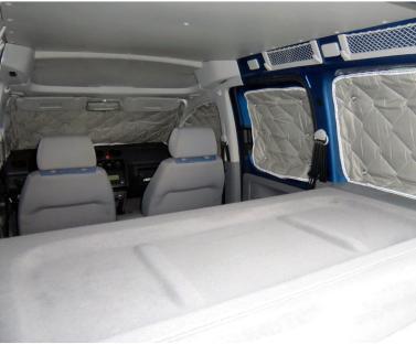 Thermomatte f�r VW Caddy rundum f�r kurzen Radstand