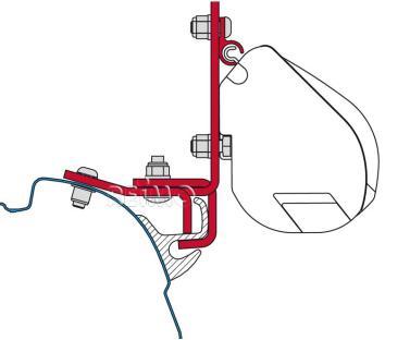 FIAMMA Adapter f�r F35,f�r VW T5 mit Brandrup