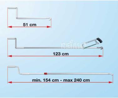 FIAMMA Handkurbel 123cm