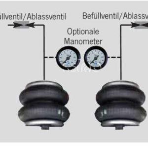 VB 2-Kreis Manometersatz, mit 2 Manometern