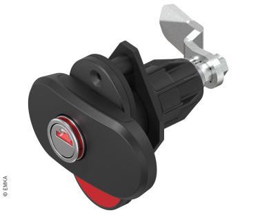 Dreh-Spann-Verschluss Double Red mit zweifachem optischen �ffn.indikat