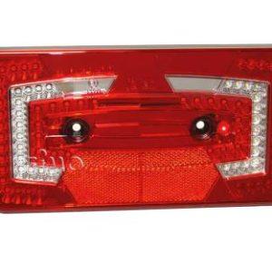 LED-Multifunktionsleuchte, 9-32V, rechts rot IP67 Standardr�ckstrahler