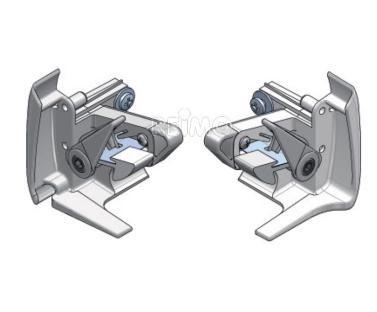 Endkappe Frontblende rechts silber f�r Markise Prostor 500/PW1500