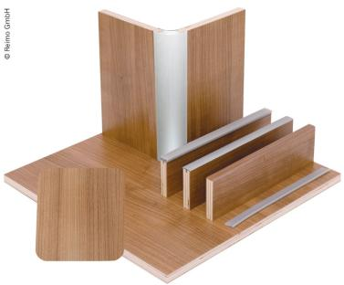 M�belbauplatte 61,1x122cm, Schichtstoff Nussbaum, 1/4 Platte