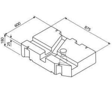 Frisch- Abwassertank VW T4 ab Bj. 7/90
