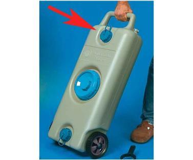 Schraubverschluss mit Halteband f�r Aqua Mobil 35l und Aqua Con 70l