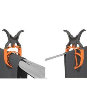 Klammern, arretierbar, 6er-Set, 5-32mm, wei�/orange