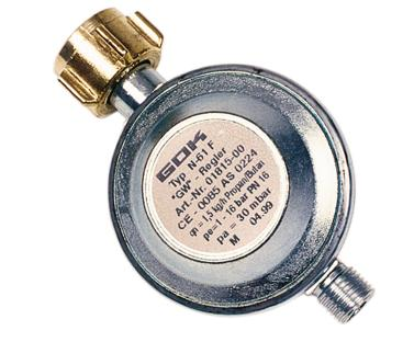 Druckminderer ohne Manometer, 30mbar