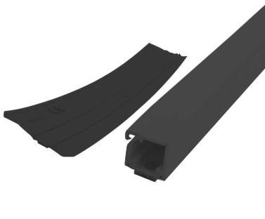 Kabelkanal 35x20mm 20m-Rolle schwarz mit doppelseitigem Klebeband