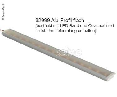 Aluminium Profil flach L1,5m x H8mm + 2 Endkappen, f�r LED-B�nder