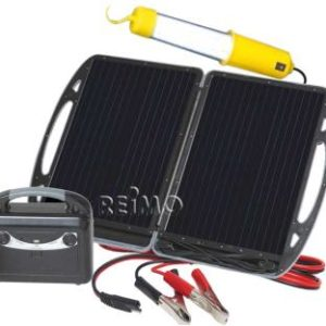 Carbest mobiler Solargenerator mit 13W Modul und Akku 12V/7A