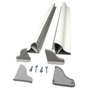Solar-Panel-Montagespoiler Set Breite bis 410mm, 1 Paar, 4 Ecken, 2tlg