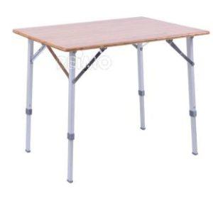 Bambus-Tisch CATANIA mit Aluminiumgestell, 80x60cm, h�henverstellbar