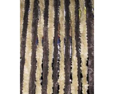 Flauschvorhang 56x205 braun/beige