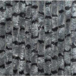 Flauschvorhang 56x205  grau-schwarz horizontal