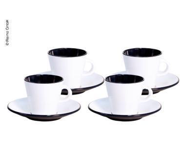 Melamin Espresso-Tassen Set LINEA schwarz f�r 2 Personen, Gimex