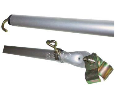 Dachhakenstange Stahl 220-300cm,3-teilig, �28x1mm/�25x1mm