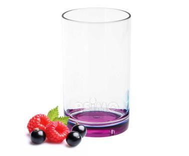 Gimex Trinkglas aus SAN, brombeerfarbener Boden, 250ml