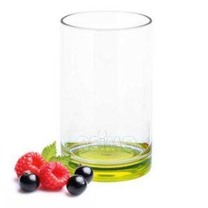 Gimex Trinkglas aus SAN, Boden lime green, 250ml