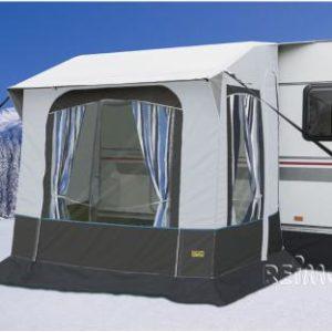Wintervorzelt Cortina 2 f. Caravans,Stahlgest�nge,B220xT180xH235/255cm