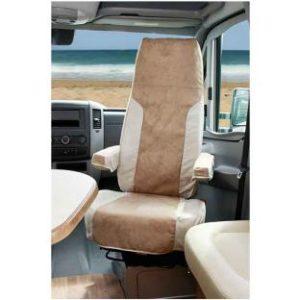 Schonbezug Aguti-Sitz, beige/sand, Alcatraz Velor, 2-tlg.