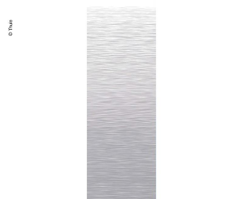 Markisen-Set 6300 4m Mystic Grau, Gehäuse weiß, Kappen: weiß