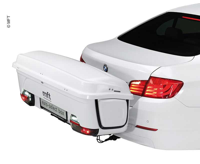 BackBox für BackCarrier Weiß, Transportsystem für Anhängerkupplung