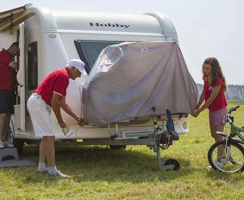 Fahrradhülle Bike Cover Caravan für 2 Fahrräder