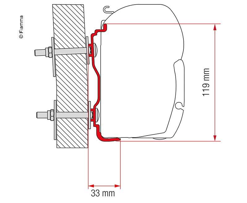 Markisen-Adapter Hymer ab 2016 F45 500cm