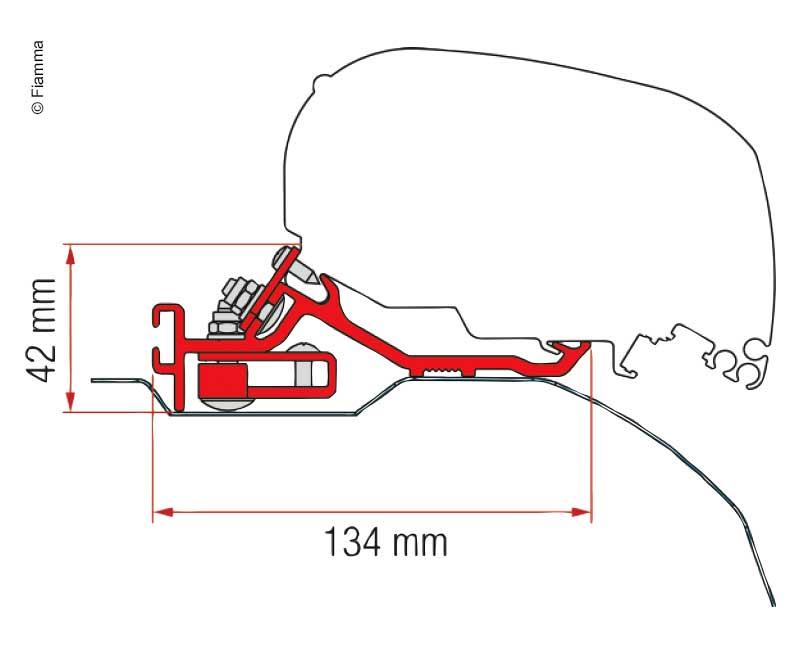 Adapter Markise F65L und F80S für Fiat Ducato, Peugeot Boxer, Citroën Jumper