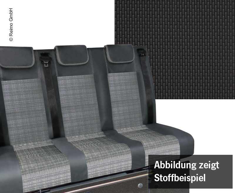 Schlafsitzbank VW T6.1, Trio Style V3000 Gr.10 3-sitzig Briks 2fbg.Rechtslenker