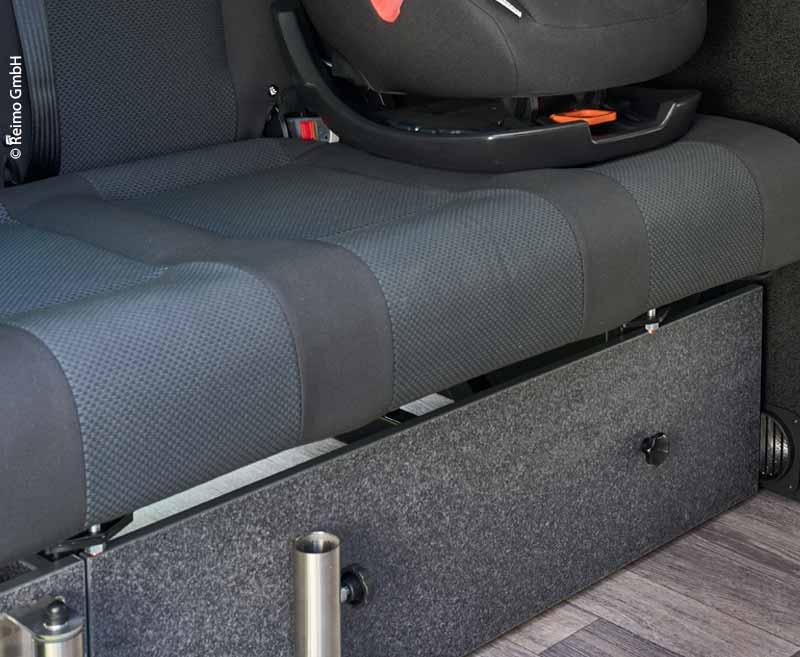 Frontblende Schlafsitzbank VW T6/5 V3100 starr Gr.8 Dekor Basalt.