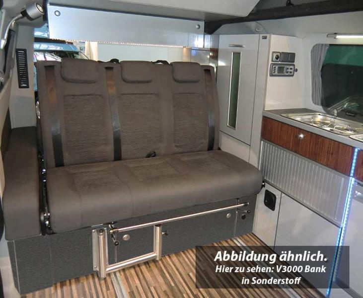 Schlafsitzbank Ford Custom V3000 Gr.10 3-sitzig, Polster Classic grau 2-fbg.
