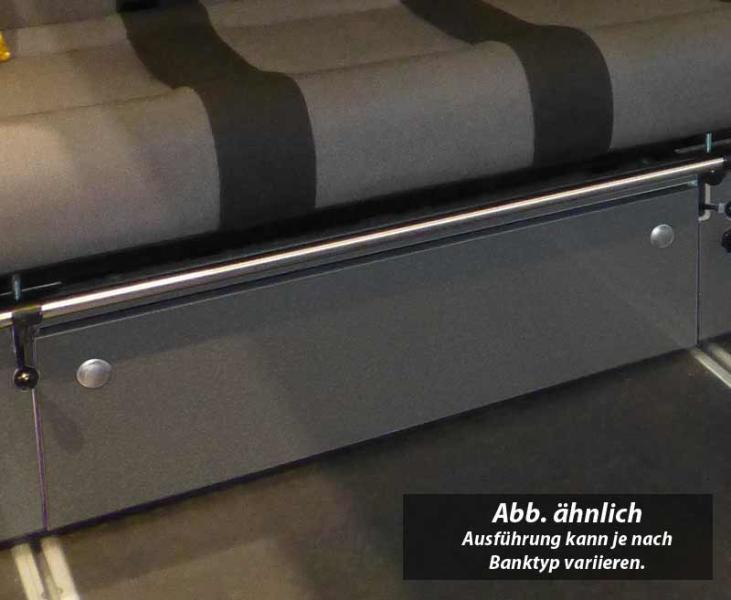 Frontblende für Schlafbank V3000 Gr.10 Ren. Trafic,Opel Vivaro Fiat Tal. Basalt