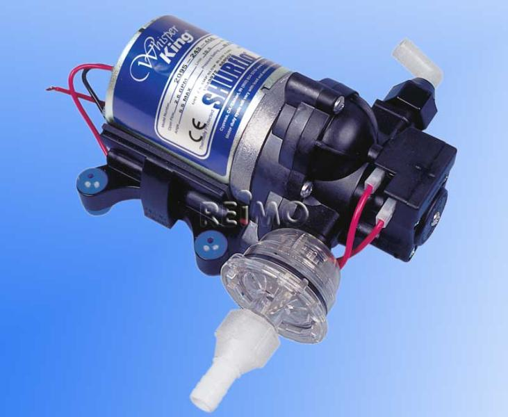 Shurflo 3-Kammer-Druckwasserpumpe Whisper King 10 Liter/min