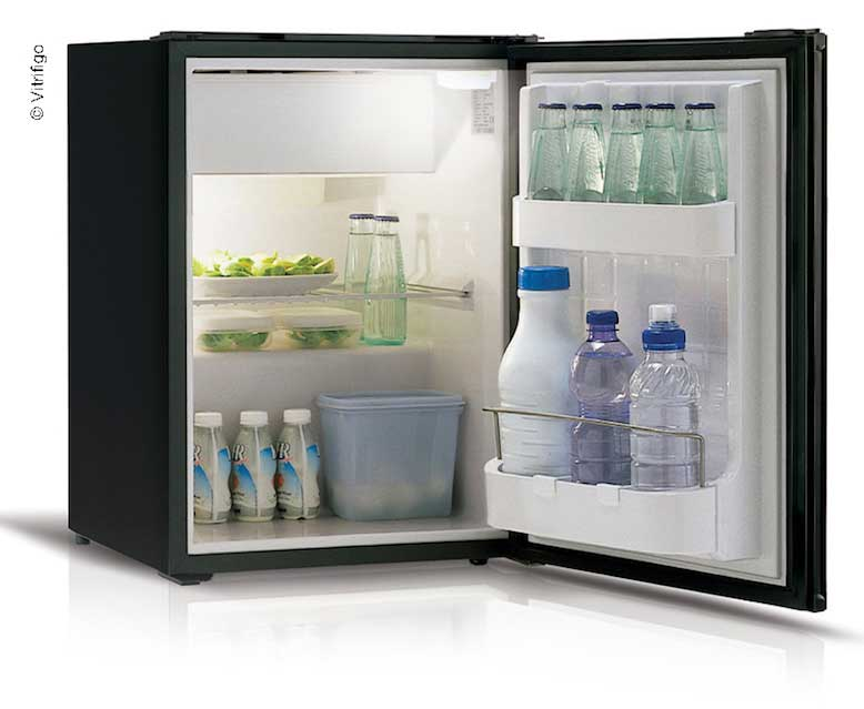 Vitrifrigo Kompressorkühlschrank, 39 l + 3,6 l, schwarz, 31 W