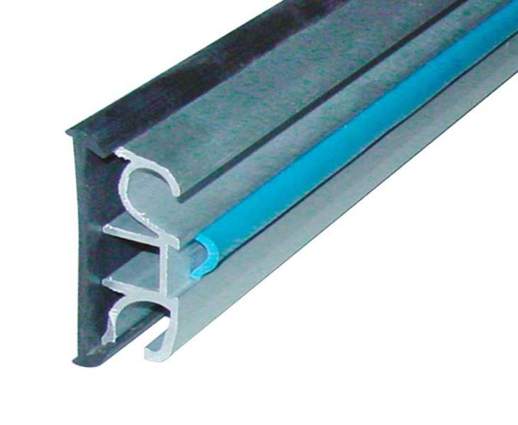 Gummi-Dichtprofil für Alu-Fenstereinzugsschiene 43mm